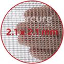 PLASA SARMA DE OTEL GALVANIZATA, ZINCATA 10-15 μm - 1 x 12 m - 2.1 x 2.1 mm - 0.3 mm
