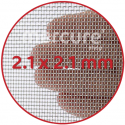 PLASA SARMA DE OTEL GALVANIZATA, ZINCATA 10-15 μm - 1 x 12 m - 2.1 x 2.1 mm - 0.46 mm