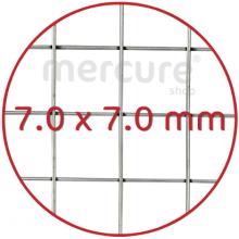 PLASA SARMA DE OTEL GALVANIZATA, ZINCATA 10-15 μm SUDATA - 1 x 10 m - 7 x 7 mm - 0.7 mm