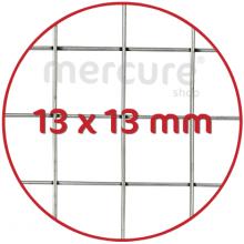 PLASA SARMA DE OTEL GALVANIZATA, ZINCATA 10-15 μm SUDATA - 1 x 10 m - 13 x 13 mm - 0.9 mm