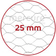 PLASA RABITZ Zn PLASTIFIATA - 1 x 25 m - 25 mm - 1 mm