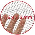 PLASA SARMA DE OTEL GALVANIZATA, ZINCATA 10-15 μm - 1 x 12 m - 7.6 x 7.6 mm - 1.0 mm