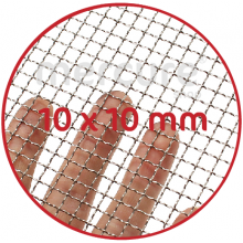 PLASA SARMA DE OTEL GALVANIZATA, ZINCATA 10-15 μm - 1 x 12 m - 10 x 10 mm - 1.0 mm
