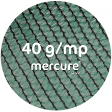 PLASA UMBRIRE HDPE, UV - 2 x 100 M, VERDE, 40 g/mp