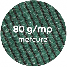 PLASA UMBRIRE, HDPE, UV - 1.5 x 10 M, VERDE, 80 g/mp - CU BUTONIERE, PROTECTIE 80%